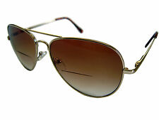 MENS TRENDY GRADUATED TINT AVIATOR SUNGLASSES.BIFOCAL