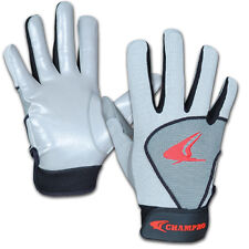 NEW! YOUTH CHAMPRO  GREY RECEIVERS GLOVES FOR FOOTBALL