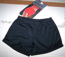 Nwt New Danskin BoyCut Booty Shorts Stretch Dance Cheer Black Cute Nice Adult