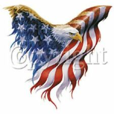 T-Shirt American Flag Eagle USA Patriotic TShirt Cotton Polyester Blend SM - XL