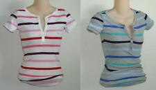 Womens AEROPOSTALE Striped Ribbed Cotton Henley NWT #5290