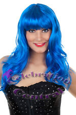 KATY PERRY CALIFORNIA GIRLS STYLE LONG BLUE FRINGED WIG