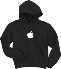 APPLE Computer STORE EMPLOYEE Logo Black HOODY