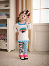 Mud Pie Wild Child Zebra Tunic And Tight Set 3M to 3T #190100