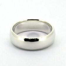 Handmade 8mm Classic Mens Solid 925 Sterling Silver Plain Band Ring Size 4-16