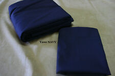 """TWIN size Dust Ruffle - Ruffled or Tailored - 200TC NAVY 14"""" 18"""" 21"""" drops"""