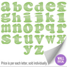 Green Dragonfly Decal Letters Kids Vinyl Nursery Baby Room Name Wall Stickers
