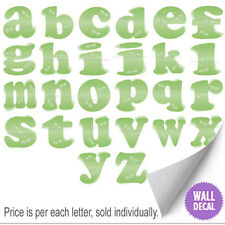 Name Wall Letters Alphabet Stickers Initial Decals Girls Decor Green Dragonfly