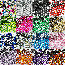 1000 RHINESTONES GEMS 5mm ACRYLIC FLAT BACK ART CARDS 30 COLOURS NEW BLING