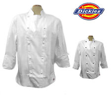 NWT Dickies CW070103 Master Chef Coat w/Stud Buttons 34-56 WHITE 100% Cotton