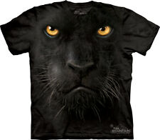 NEW THE MOUNTAIN BLACK PANTHER FACE ADULT T SHIRT