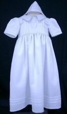 Baby Girl/Boy Christening Baptism White Robe Gowns & Bonnet Dress-Size 0000 to 0