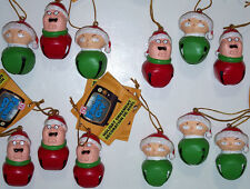 "Family Guy Peter Stewie Griffin Jingle Bell Ornaments 2 1/4"" Any Combo Set of 3"