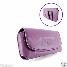 PURPLE PREMIUM LEATHER POUCH CASE FOR NOKIA PHONES COVER WITH BELT CLIP LOOP
