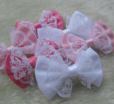 21PCS Satin Ribbon Bows Flowers Wedding Appliques Craft E142 Upick Accessory