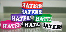 Liquidation Wholesale lot I Love Haters Silicone Rubber Bracelet Wristband