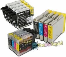4 Ink Cartridges for Brother MFC & DCP Printer Models - Brand-New & with Chips