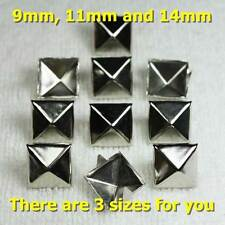 100x 9-14mm DIY Leather Square Pyramid Punk Spike Studs Spots Thailand Products