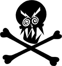 "Skull and Crossbones Decal Sticker 3.75""x4"" select color!   vinyl sticker  S4"