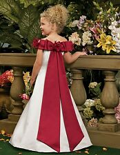 L101 flower girl wedding bridesmaid dress party prom bridal gown