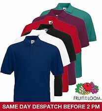 Fruit of The Loom Men's Polo T SHIRT ALL SIZES