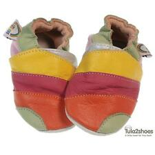 tula2shoes LEATHER BABY GIRLS PRAM/FIRST SHOES Stripe  0-6 6-12 12-18 18-24 M