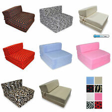 Deluxe Fold Out Memory Foam Guest Z Bed Chair Ideal For Kids Sleep Over's