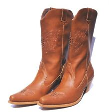 Splash Fashion Brown (Camel) Womens Cowboy Western Boots (Retail $118)
