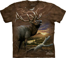 Elk At Dusk The Mountain Adult T-Shirt Collection
