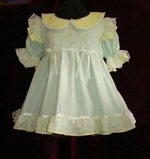 Frilly Mint and Yellow Adult Baby Sissy Dress Custom Aunt D