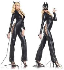 SEXY BODYSUIT W/LACE UP SIDES CATWOMAN COSTUME/LINGERIE