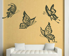 Four Huge Butterflies Butterfly Large Wall Stickers Vinyl Decal High Quality NEW