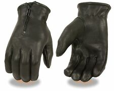 Men's Naked Cowhide Cruiser Style Driving, Riding Glove w/ Perforated Knuckles