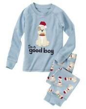 NWT Gymboree Boys Bulldog Gymmies Pajamas 6-12 M