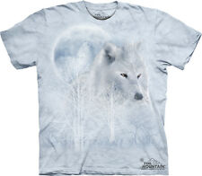 White Wolf Moon The Mountain Adult Tshirt