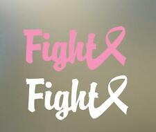 """(2) 8"""" w pink ribbon cancer vinyl Decal sticker fight surface car  RC PHONE S134"""