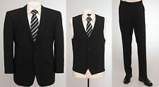 """BNWT Skopes wool blend 3 piece suit in plain navy blue, chest 48"""" to 52"""""""