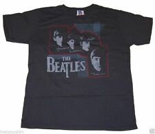 New Authentic Junk Food The Beatles Signatures Mens T-Shirt in Gray