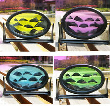 Ellipse Moving Sand Glass Art Picture Frame Table Decor Craft Birthday Xmas Gift