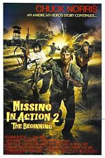MISSING IN ACTION 2  Movie Poster RARE Chuck Norris