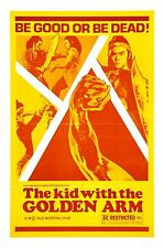 THE KID WITH THE GOLDEN ARM Movie Poster RARE Kung-Fu