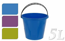 5L PLASTIC KITCHEN HOME WATER BUCKET FUNDRAISING STORAGE BIN WITH HANDLE