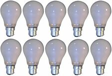 10 x Light Bulbs BC B22 Bayonet Pin Push In Cap Pearl 40w 60w 100w Watt New