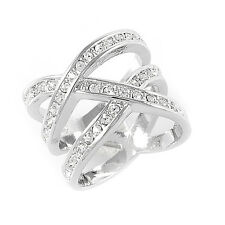 Ring White GP Swarovski Crystal R549W All Size
