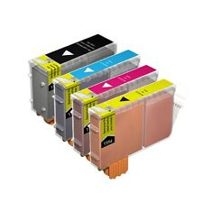 4 Compatible BCI-6CMY / BCI-3EBK Printer Ink Cartridges for Canon S400 & more