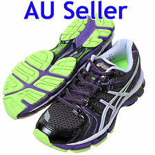 ASICS GEL KAYANO 18 WOMENS RUNNING SHOES titanium / neon purple