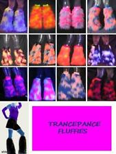 Neon Pink Blue Yellow White Green Orange Red Fluffy Boot Covers Legwarmers
