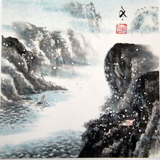 Tableau Peinture Chinoise-Paysage hiver-Chinese Painting-Malerei-Pintura