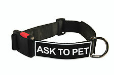 Dog Collar With Velcro Patches by Dean Tyler: Ask To Pet