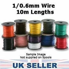 Equipment Wire 1/0.6mm, Solid Core, 22awg, 10m, Any Colour (11 Colours)